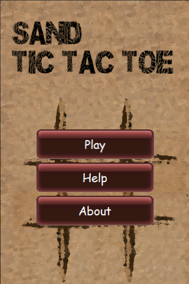 Screenshot Sand Tic Tac Toe